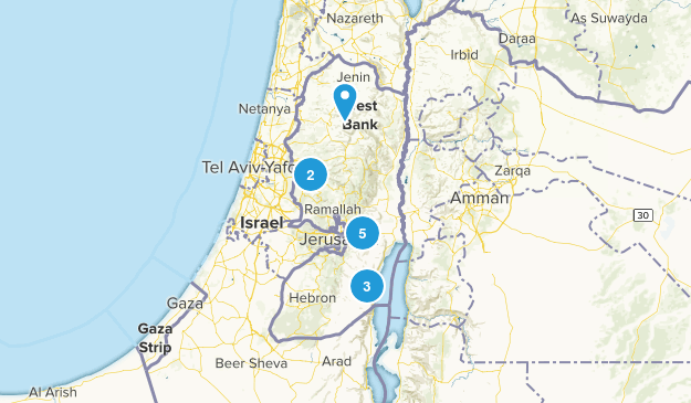 Palestine Nature Trips Map