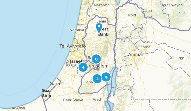 État de Palestine Nature Trips Map
