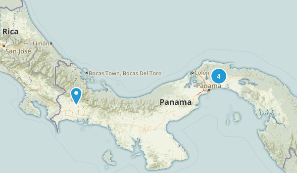 Panama Parks Map