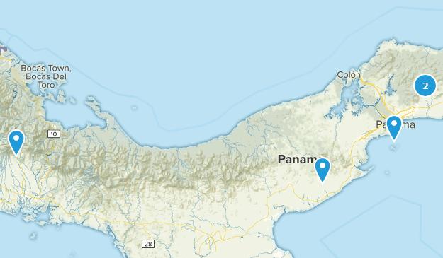 Panama Trail Running Map