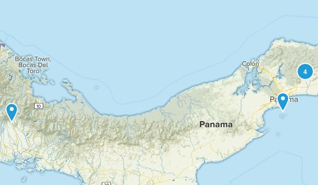 Panama Wild Flowers Map