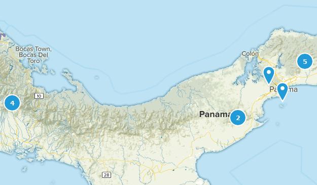Panama Wildlife Map