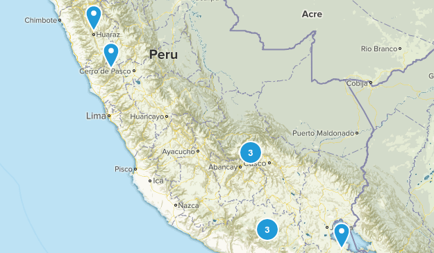 Peru Wildlife Map