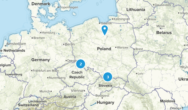 Poland Nature Trips Map
