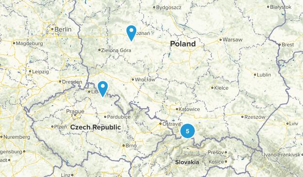 Poland Walking Map