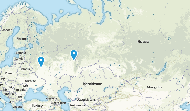 Russia Parks Map