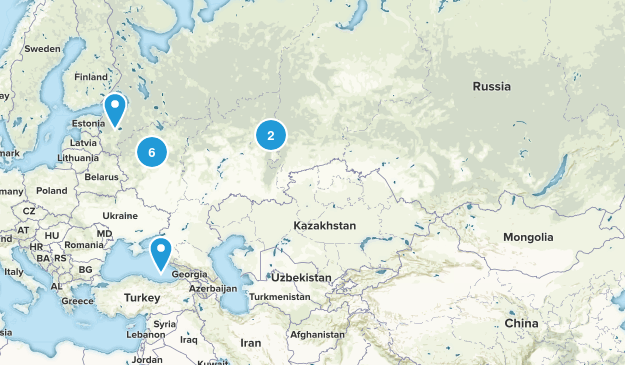 Russia Walking Map