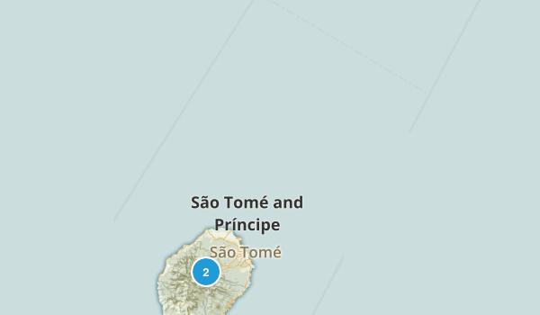 Sao Tome and Principe Parks Map