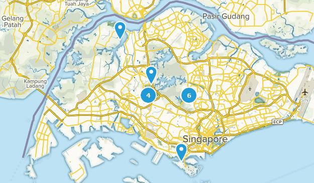 Singapore Hiking Map