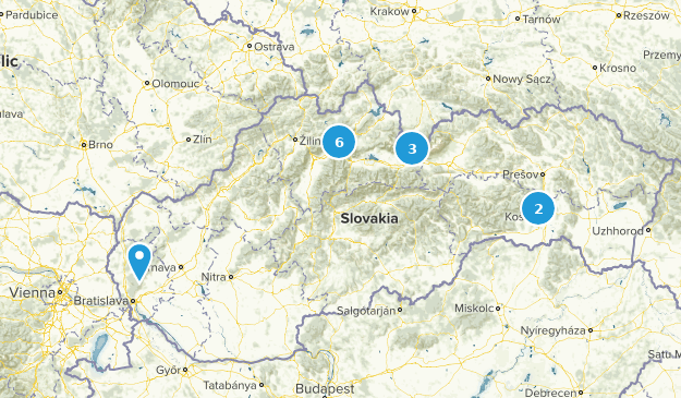 Slovaquie Nature Trips Map