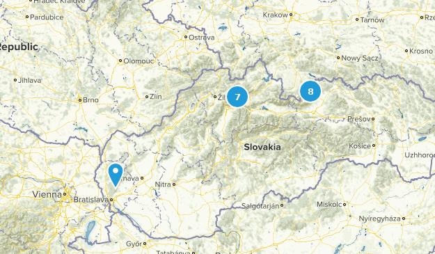 Slovakia Parks Map
