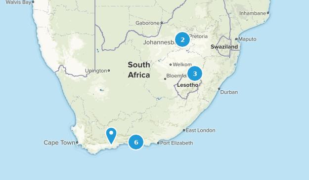 Afrique du Sud Backpacking Map