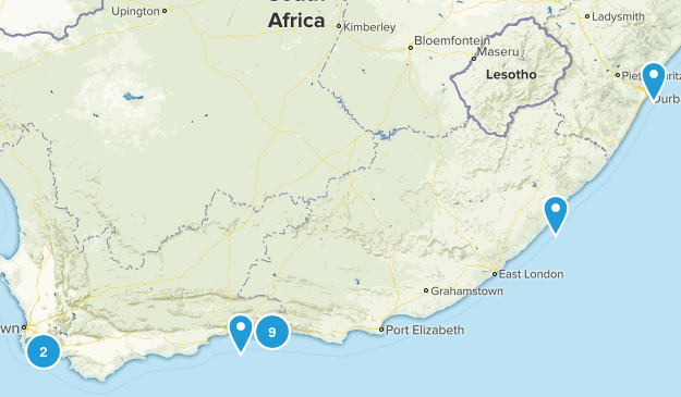 South Africa Beach Map
