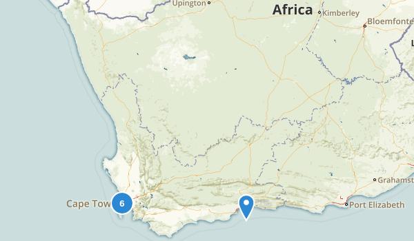 South Africa Birding Map