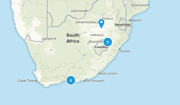 South Africa Camping Map