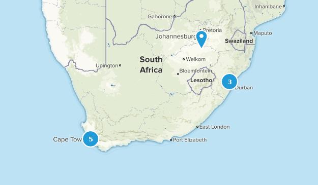 Afrique du Sud Mountain Biking Map