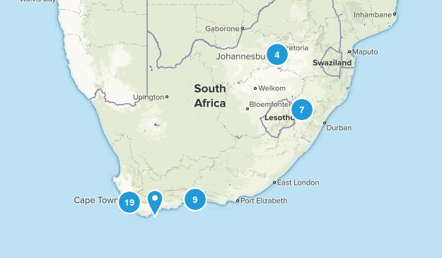 South Africa Nature Trips Map