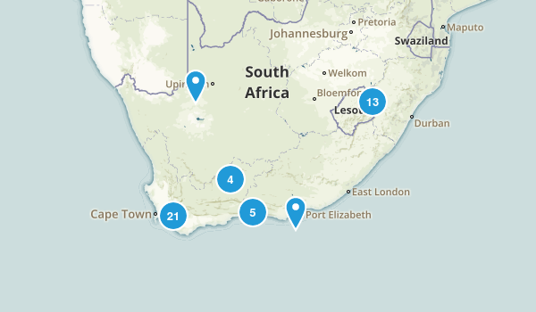 South Africa Parks Map