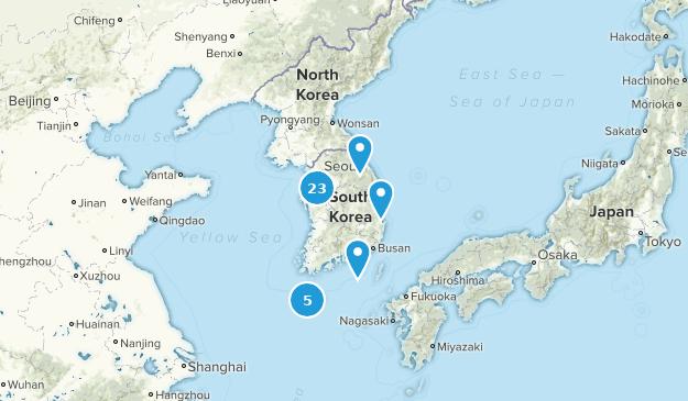 Corée du Sud Nature Trips Map