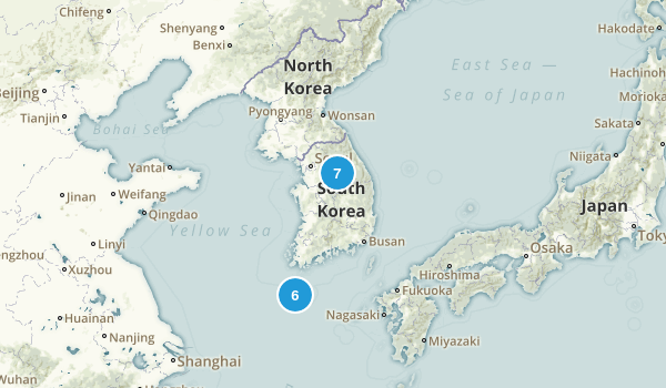 South Korea Parks Map