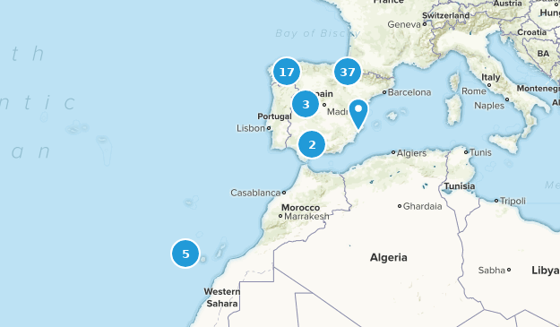 Spain Backpacking Map