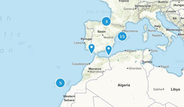 Spain Beach Map
