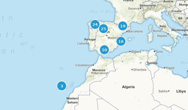 Spain Birding Map