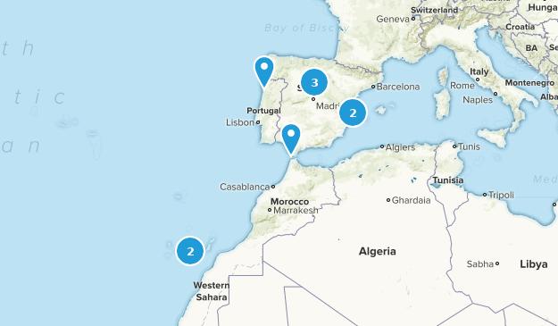 Spain Mountain Biking Map