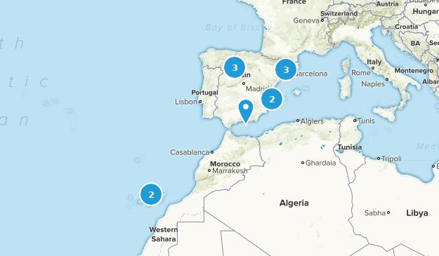 Spain Rock Climbing Map