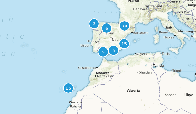 Spain Wildlife Map