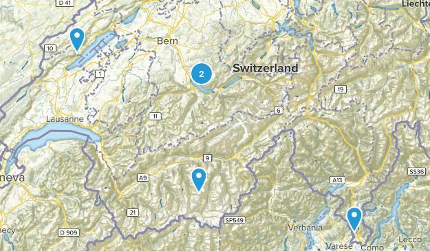 Switzerland Parks Map