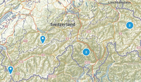 Switzerland River Map
