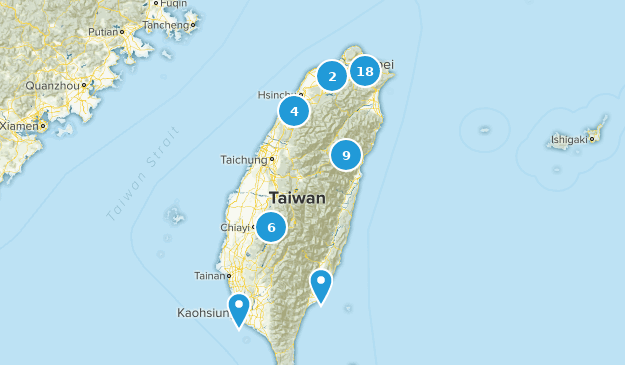 Taiwan Hiking Map