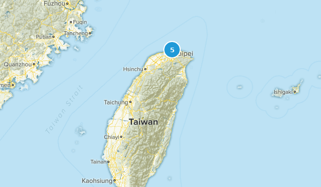 Taiwan National Parks Map