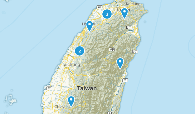 Taïwan Trail Running Map