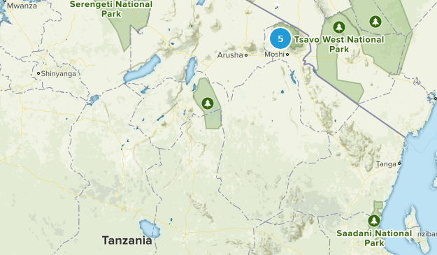 Tanzanie Backpacking Map