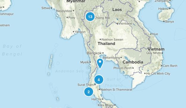 Thailand Hiking Map