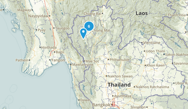 Thailand National Parks Map