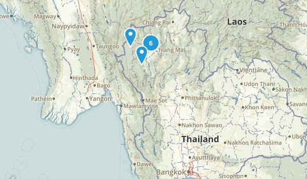 Thailand Parks Map