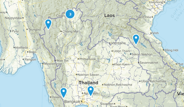 Thailand River Map