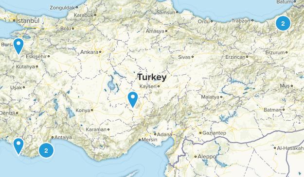 Turkey Hiking Map
