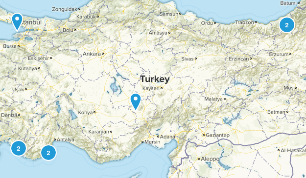 Turkey Nature Trips Map