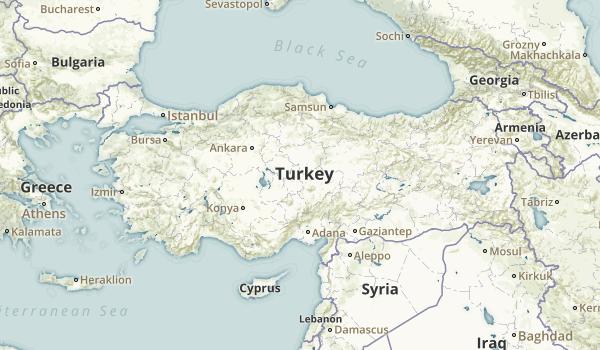 Turkey Parks Map