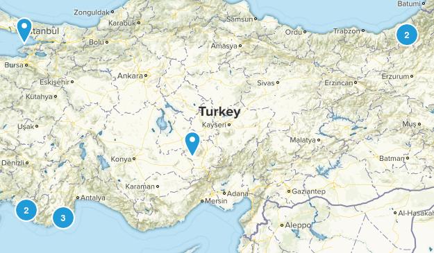 Turkey Walking Map