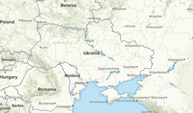 Ukraine Parks Map
