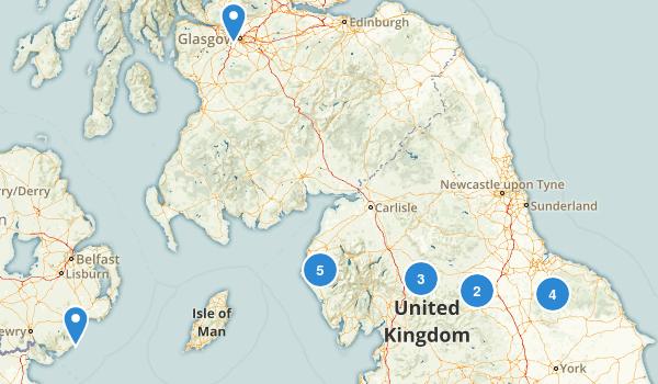 United Kingdom Backpacking Map