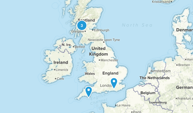 United Kingdom Fishing Map