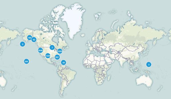 United States Hiking Map