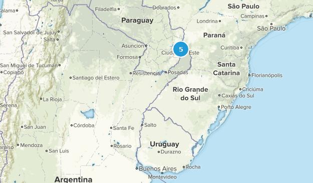 Entre Rios, Argentina Hiking Map