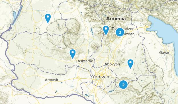 Kotayk, Armenia Hiking Map